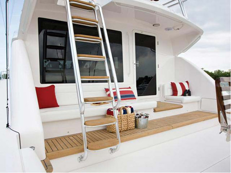 The interiors of the Bertram 511 have a fresh new look, with a large and ...