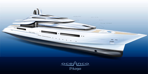 Oceanco PA090 115m project