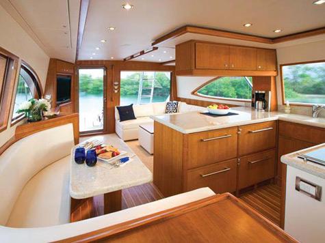 A new Ferretti 510 and Ferretti 830 Hard Top feature elegant amenities, ...