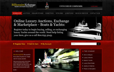 BillionaireXchange: yacht online auction