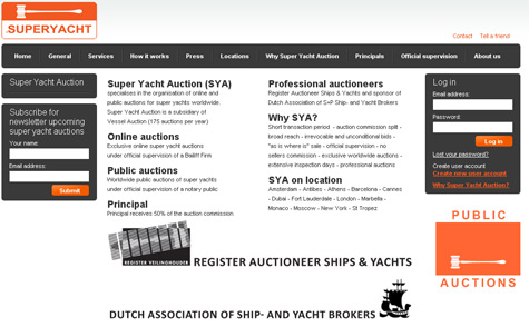Super Yacht Auction
