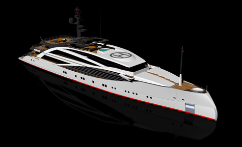 New 72.5 Eco-friendly Axebow Motoryacht By Sabdes And ICON Yachts