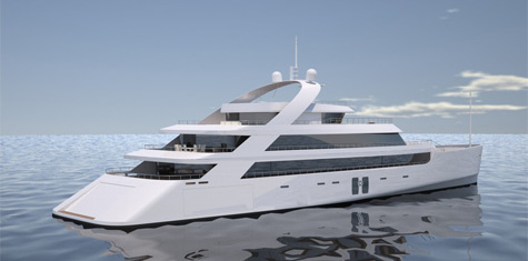 Shining 63m Superyacht Concept
