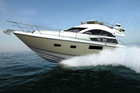 Fairline Yachts unveiled plans for the smallest yacht in the Squadron range, ...