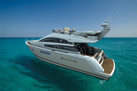 Sweeping Lines And Huge Panoramic Window Areas Which Provide Much Day Light Inside An Extra Large Flybridge Forms The Sense Of Big Boat