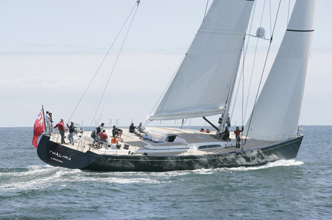 Clean Lines Of The Thalima SW 110 RS Sailing Superyacht