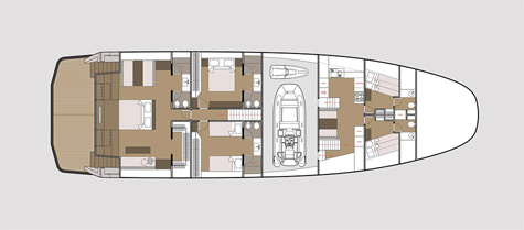 Wallyship interior layout 3 cabin