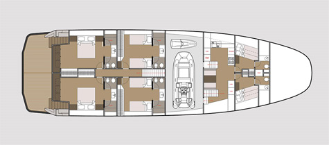 Wallyship interior layout 4 cabin