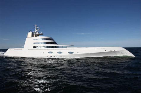 "The ""A"" Superyacht: Baccarat Meets Bomb-Proof Glass On The High Seas"