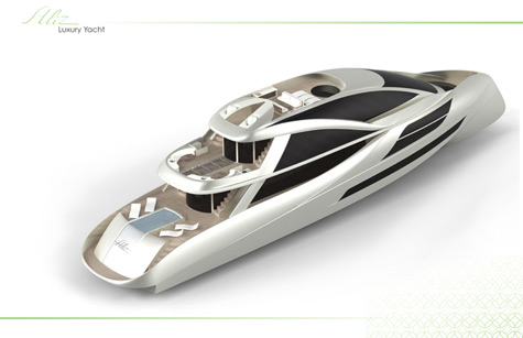 The 145ft Aliz: Eco-friendly Superyacht Concept