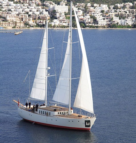The 24m Sailing Yacht Diva Touched Water