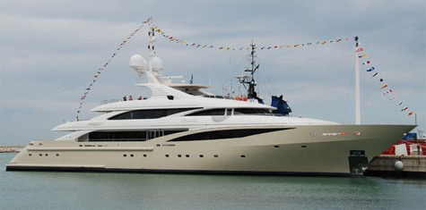 ISA 630 Superyacht Launched By International Shipyard Ancona