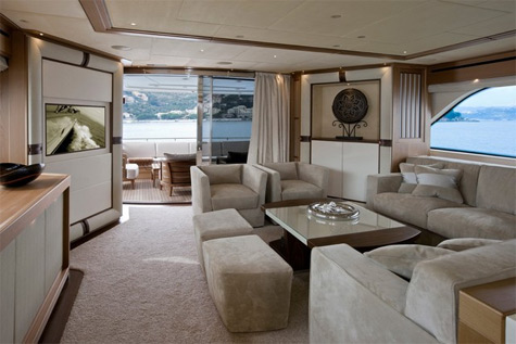 The Superyacht Lady Jane's Interiors By Stephen Huish
