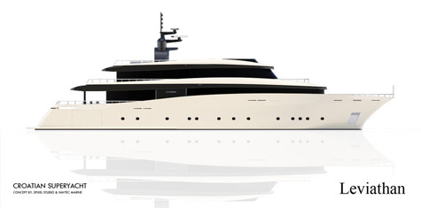 The 49m Leviathan: Luxury Superyacht With Classic Lines