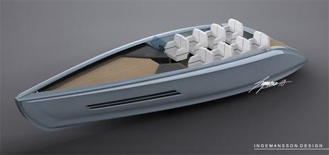 New Green Tender Yacht Concept From Dennis Ingemansson