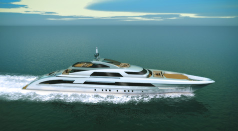 Heesen Presented 6500 Fast Displacement Hull Form (FDHF)