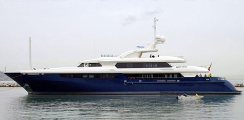 The Superyacht Mary-Jean II: Blue And White