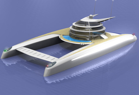 My Way: The Unique Catamaran Concept With Transparent Sherical Space