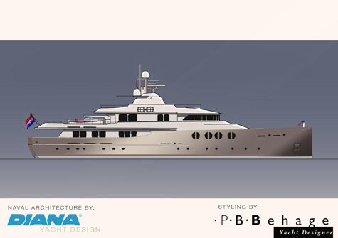 The Superyacht Nostalgic II Concept By P.B. Behage And Diana Yacht Design