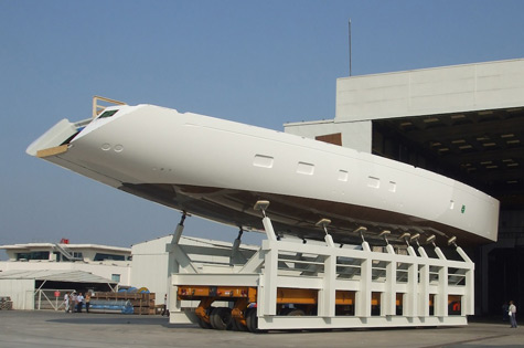Super Yacht Oyster 125 has been released from the mould at RMK after the ...