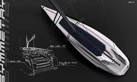 Eco-friendly Sailing Yacht Symmetry: Freedom From Traditional Structure