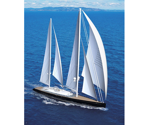 The 220ft Sailing Superyacht Vertigo By Alloy Yachts