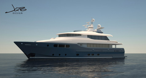 110ft motor yacht by Jonathan Quinn Barnett