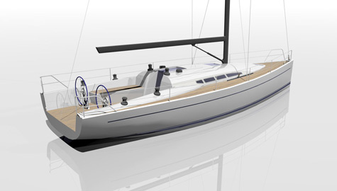 Dehler 41. Bringing all his design experience from past Americas Cup's and ...