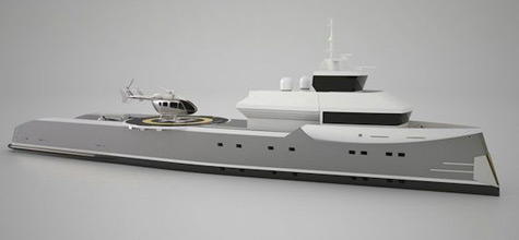 Sterling/Scott Designed The Helicopter Support Yacht Independence