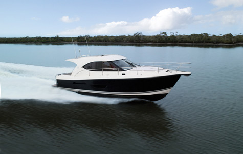 Our parents recently retired and they purchased a Riviera 3600 Sport Yacht ...