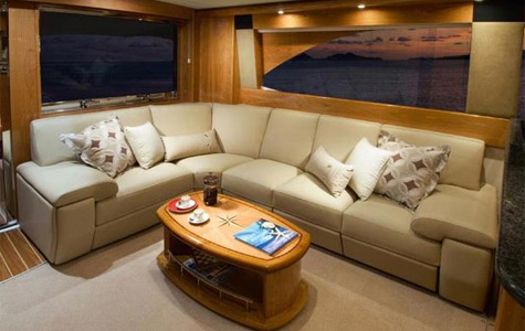 Rivera 61 Enclosed Flybridge. The hull is designed with the very latest ...