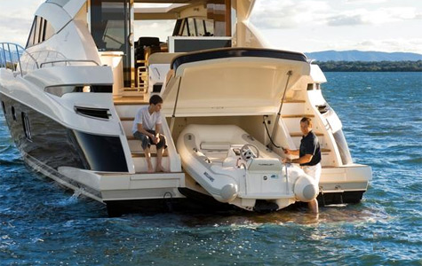 Riviera 5800 Sport Yacht. Unlike anything else designed by Riviera, ...