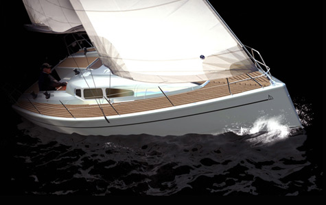 The Dehler 32 design comes from Judel/Vrolijk. The yacht features an ...