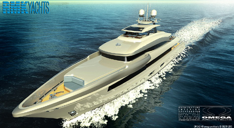 Omega Architects Presented New 50m Superyacht Concept For RMK Yachts