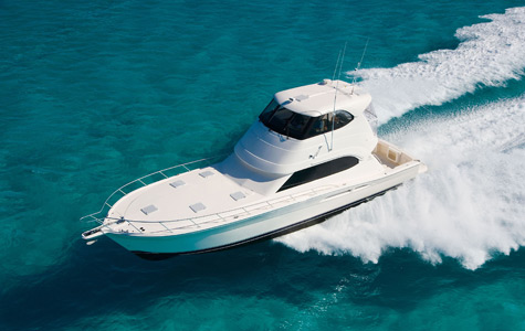 At the local yacht club we encountered the Riviera 51 Enclosed Flybridge SII ...