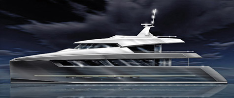 The 40m Sunreef Power Catamaran Concept By Design Unlimited And BMT Nigel Gee