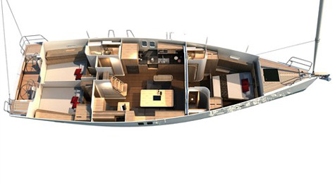 Hanse 495. The yacht is easy to handle. Naturally all manoeuvres are ...