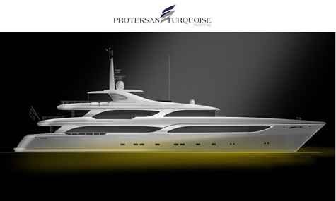 New 50m Thunder Superyacht Project By Proteksan-Turquoise