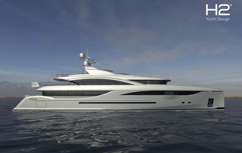 5 Deck 55m Super Yacht by ICON Yachts and H2 Design Studio