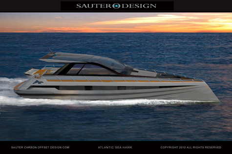 Atlantic Sea Hawk: The Solar Hybrid Cruiser By Sauter Carbon Offset Design And Atlantic Motor Yachts