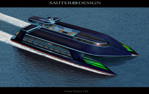 Sauter Carbon Offset Design Presents The Ocean Empire Life Support Superyacht