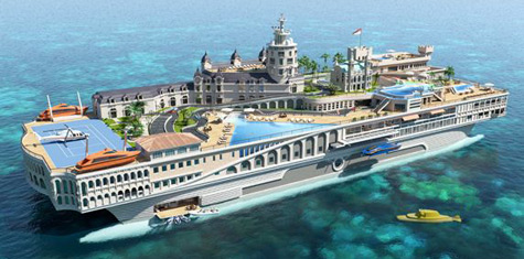 The Streets Of Monaco: Futuristic Superyacht Project By Yacht Island Design