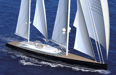 Alloy Yachts Launched Sailing Superyacht Vertigo