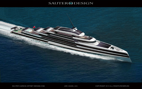 Ark Angel LSV: New Hybrid Superyacht Project By Sauter Carbon Offset Design