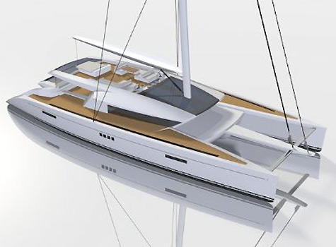 The Code [e] 100: Sailing Catamaran Project By Berret Racopeau Yacht Design