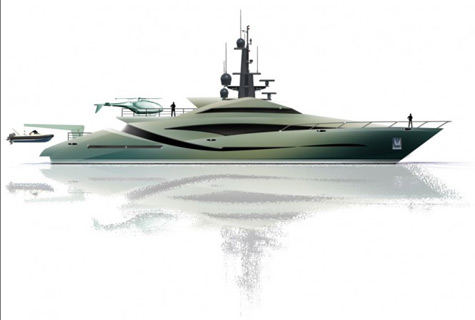 46m Superyacht Concept By Alex McDiarmid