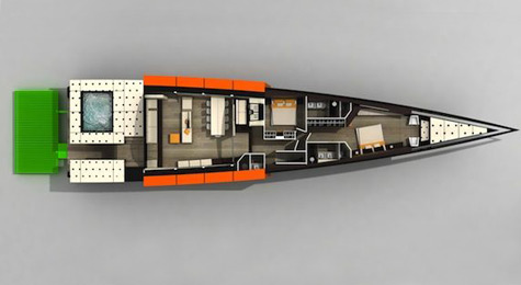 Tail Hull: The 38m Superyacht Concept By Studio Cafiero