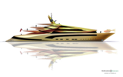 Iwana: Iguana Inspired 85m Luxury Superyacht Concept By Alex McDiarmid