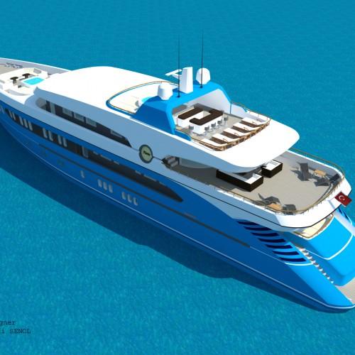 55 m Sport Yacht Design by Abdulbaki Senol