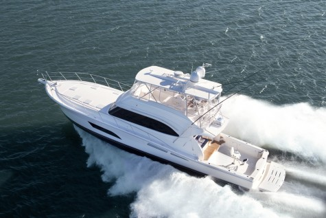 The 63 Open Flybridge bound for Dubai is a high performance vessel featuring twin 1622hp Caterpillar C32 Accert diesel engines